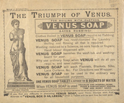 Advert for Venus Soap